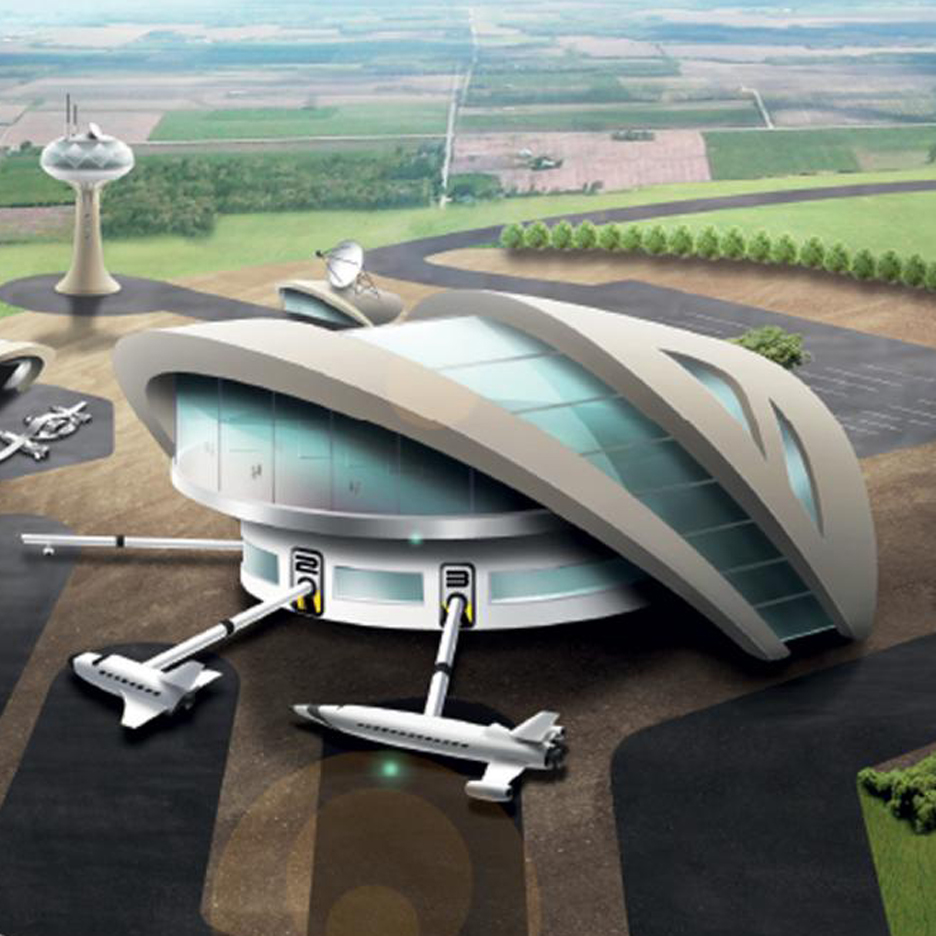 Government illustration of a spaceport
