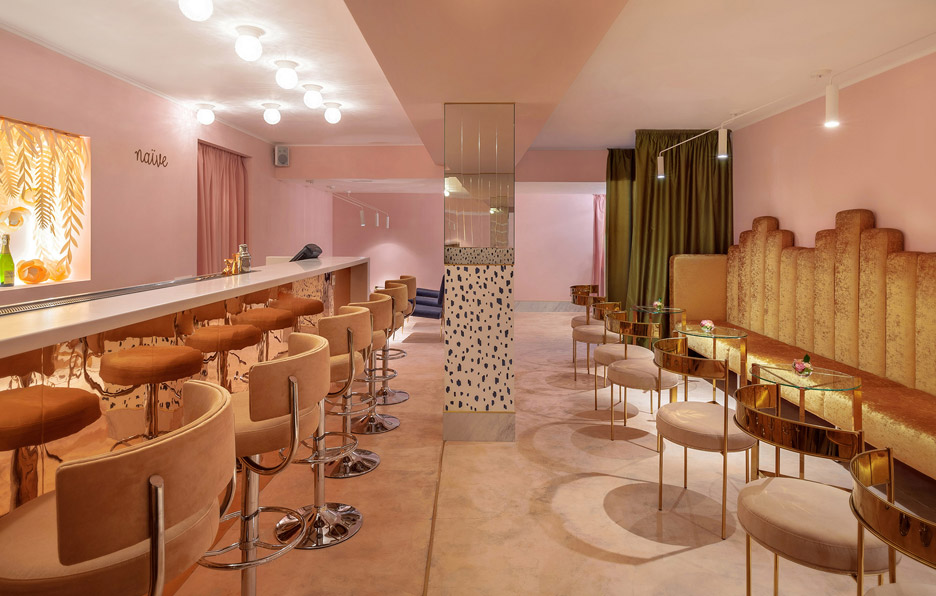 Naive Champagne Bar interior by AKZ Architecture in Kiev, Ukraine