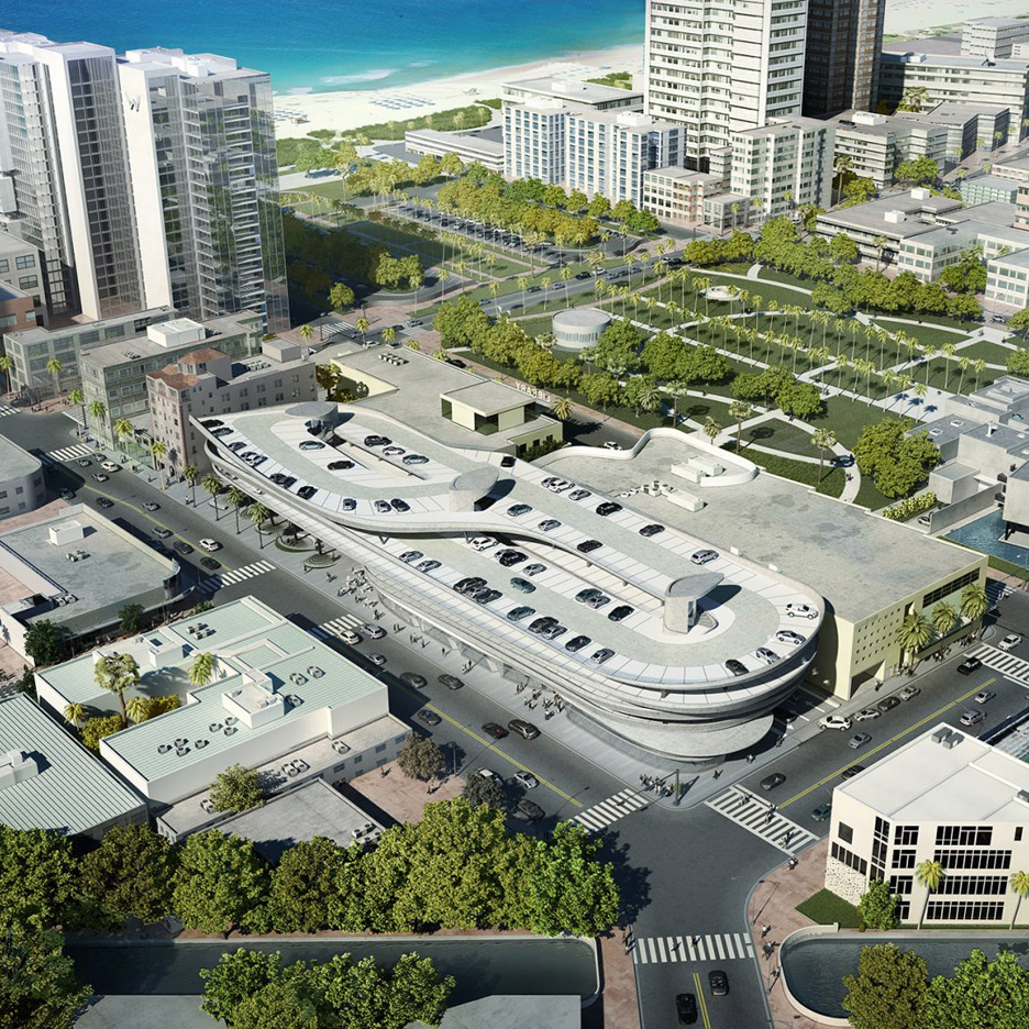 Miami Parking lot design by Zaha Hadid Architects in Florida, USA