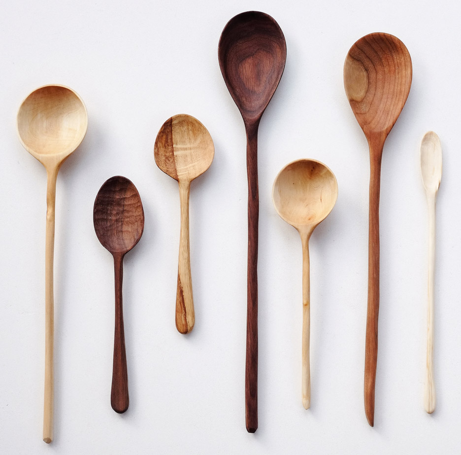 Carved spoons by Abigail Booth and Max Bainbridge