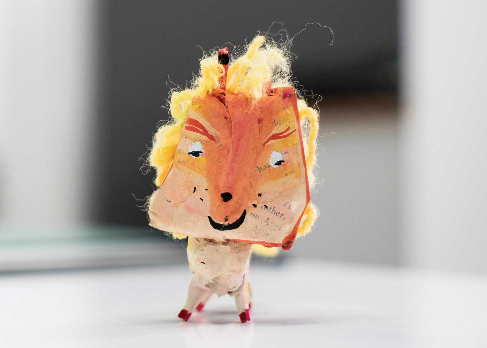 3D Paper Mache Lion by Jack Bailie