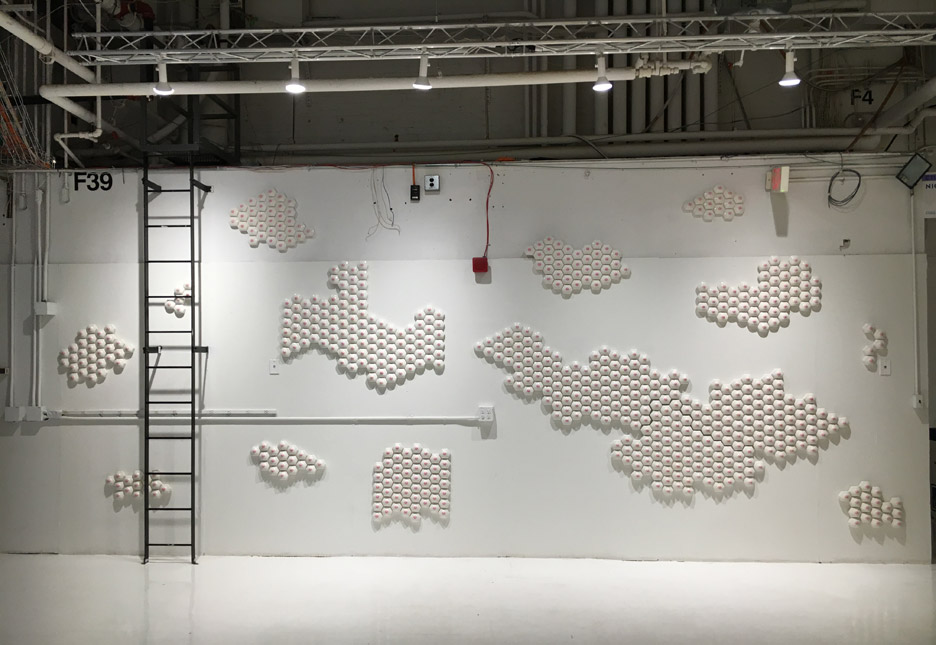 Nipple tiles exhibition by Nicole Nadeau at New York Design Week 2016