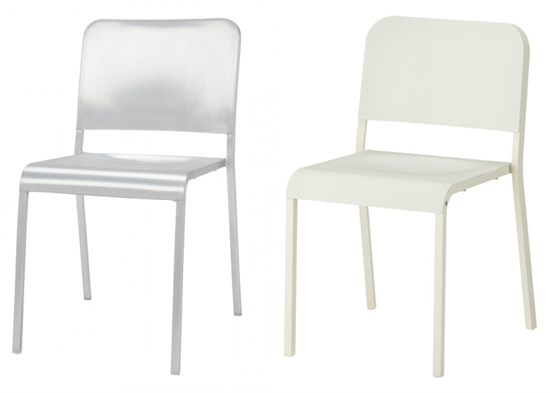 Norman Fosteru0027s 20-06 Stacking Chair for Emeco and Melltorp dining chair by Ola Wihlborg  sc 1 st  Dezeen & IKEA settles with Emeco over claims it copied a Norman Foster chair