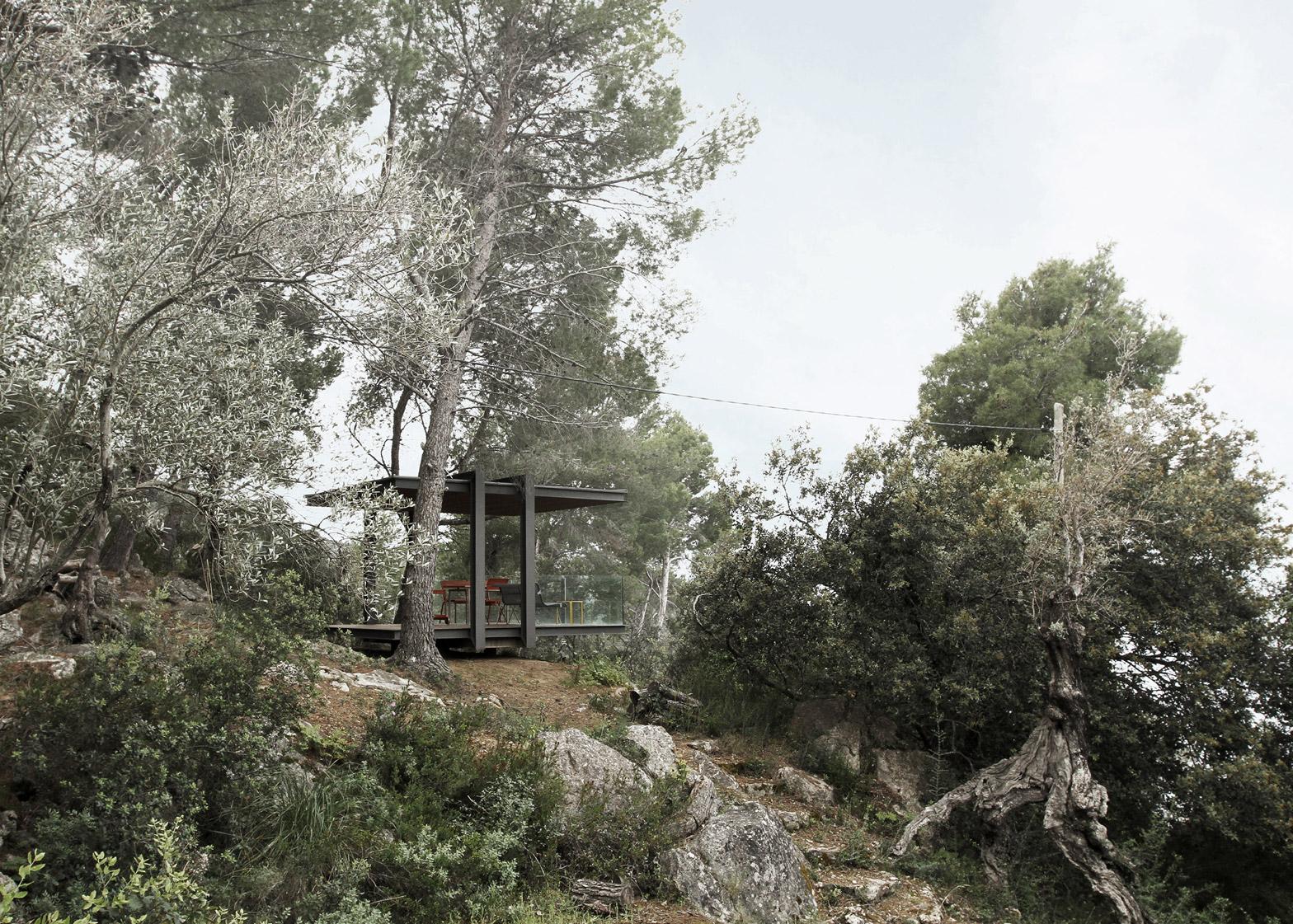 Spain pavilion viewpoint by Philipp Bretschneider of H5 Architekten in Mallorca, Spain