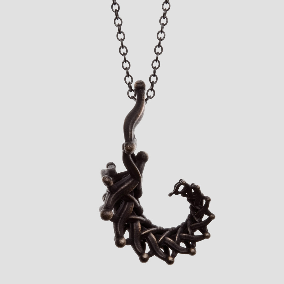 Primitiva Jewellery designed by Katrin Olina combines digital and bronze age techniques