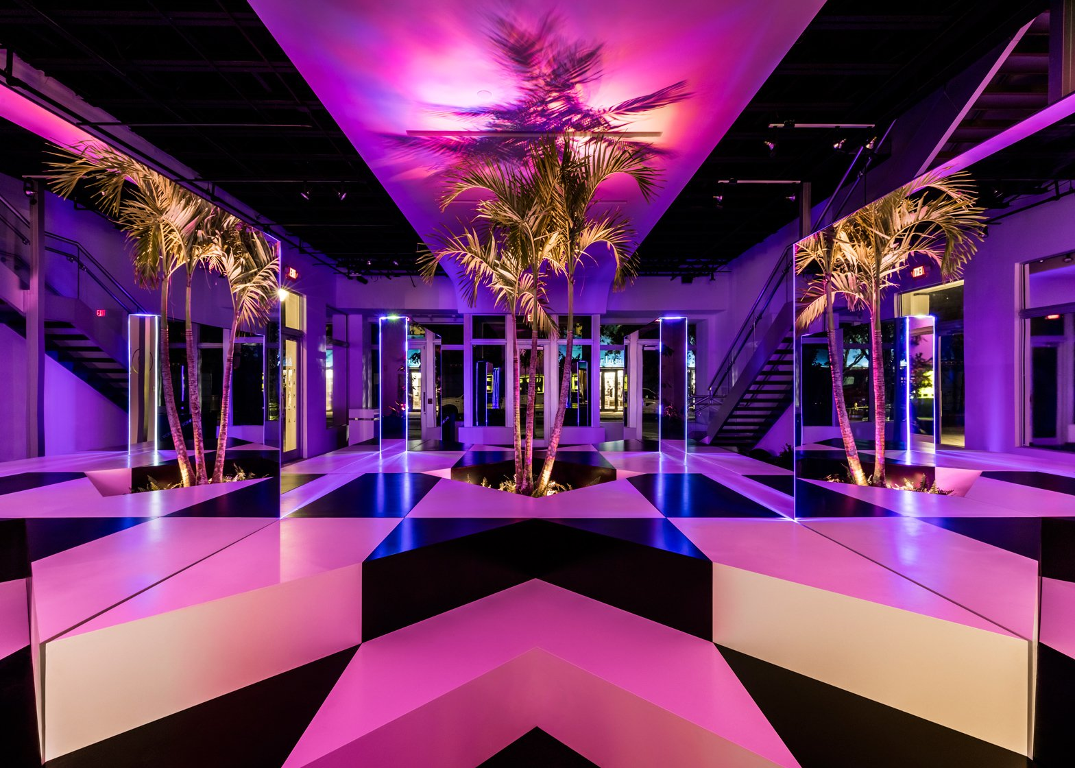 8 of 8 neon jungle installation by rafael de cardenas in miami design district
