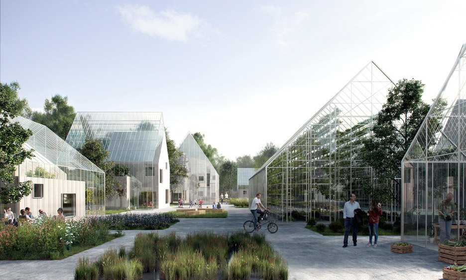 EFFEKT designs ReGen Villages that could produce all their own food and energy