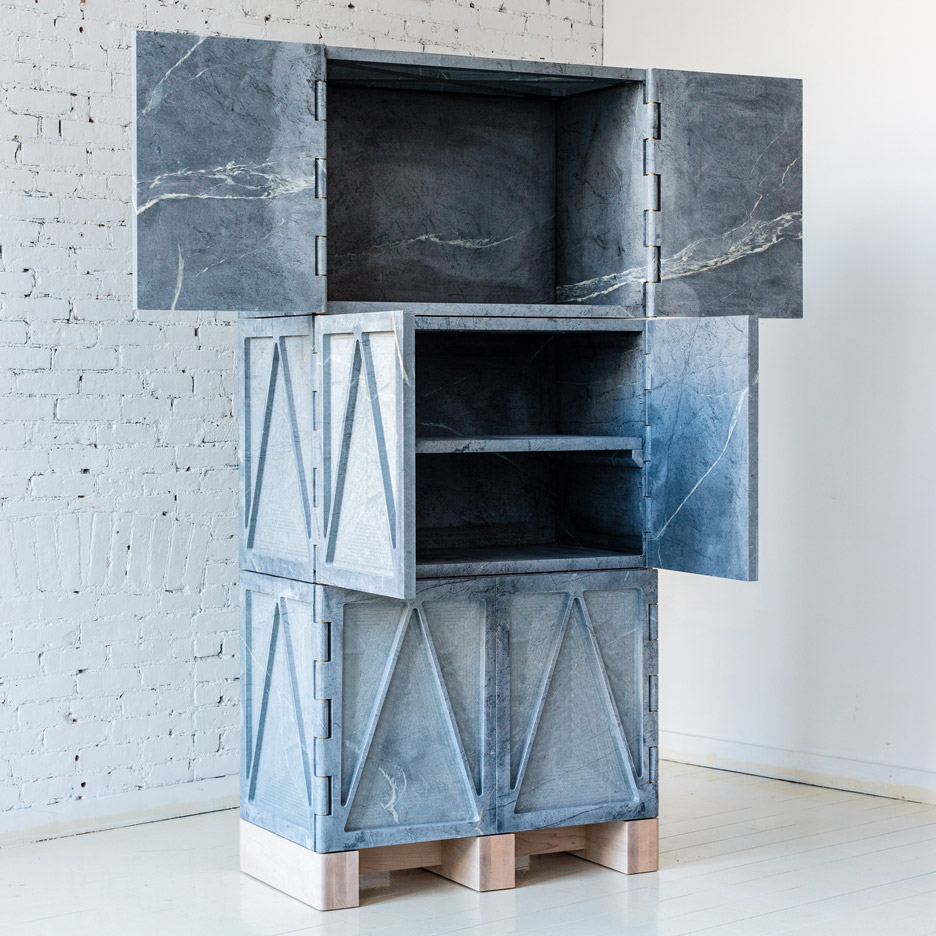 Relief Stone Cabinet in Qualities of Material furniture by Fort Standard at New York Design Week 2016
