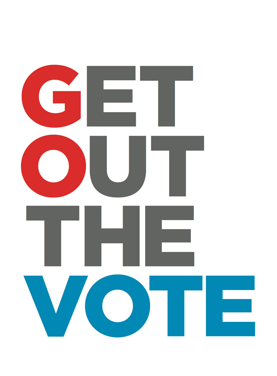 Roberto DeOliveira's entry to Get Out the Vote, graphic design campaign for the presidential election