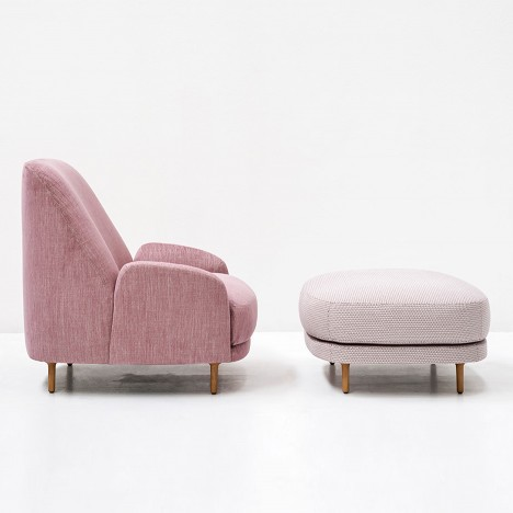 Claesson Koivisto Rune designs Santiago seating with sloped backs for Tacchini