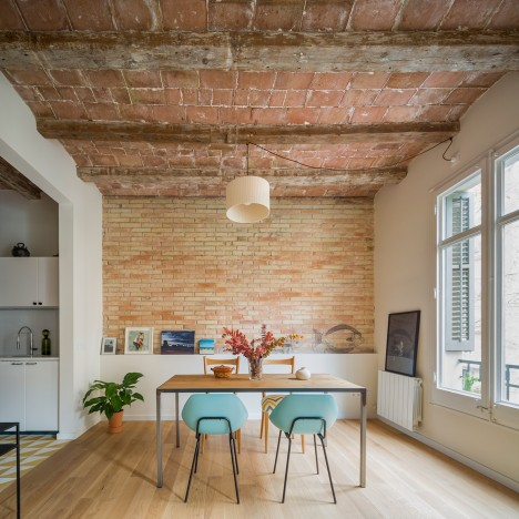 Nook Architects adds new openings and freestanding furniture to Barcelona apartment