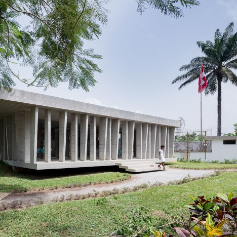 Localarchitecture transforms 1960s house into Swiss embassy for Ivory Coast