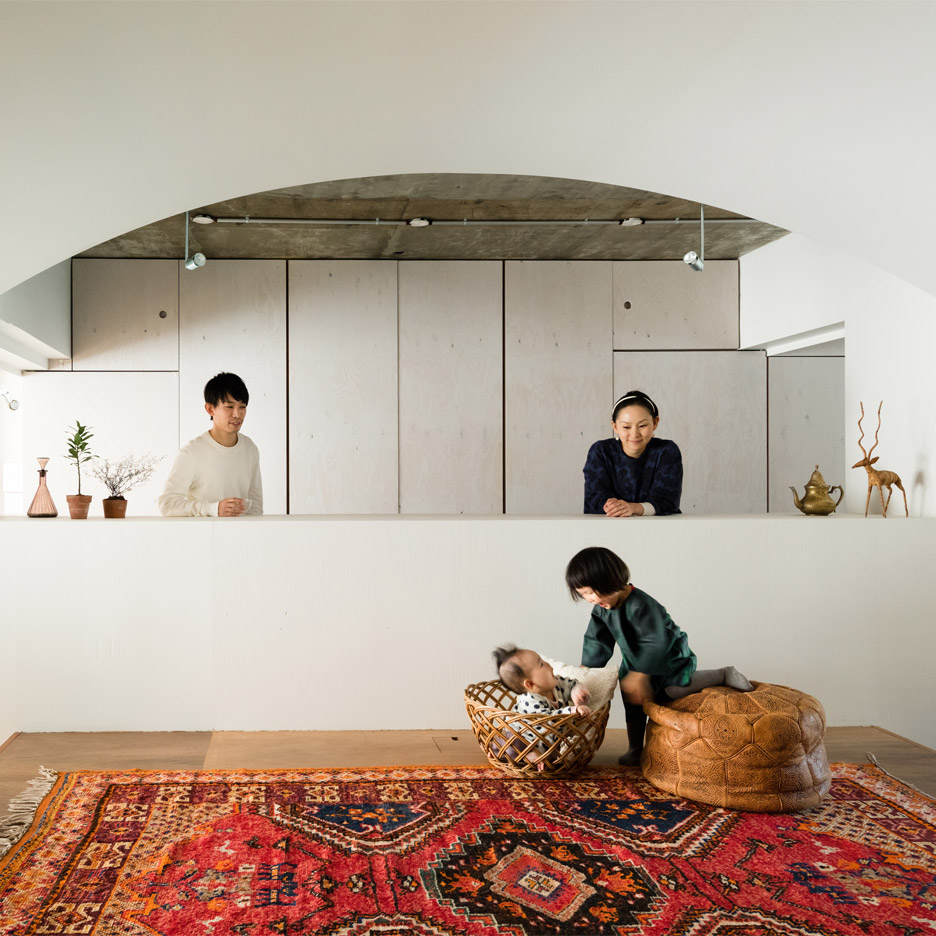 Masatoshi Hirai reconfigures Tokyo flat to create a wholly shared family living space