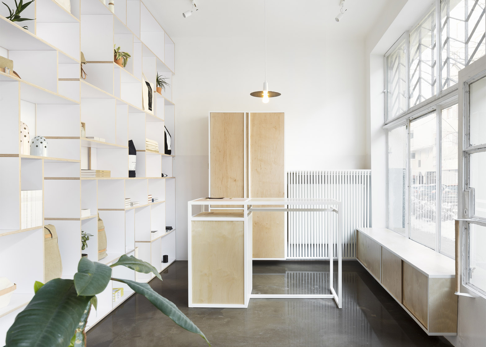 Studio Minimal thisispaper studio creates minimal interior for first design shop