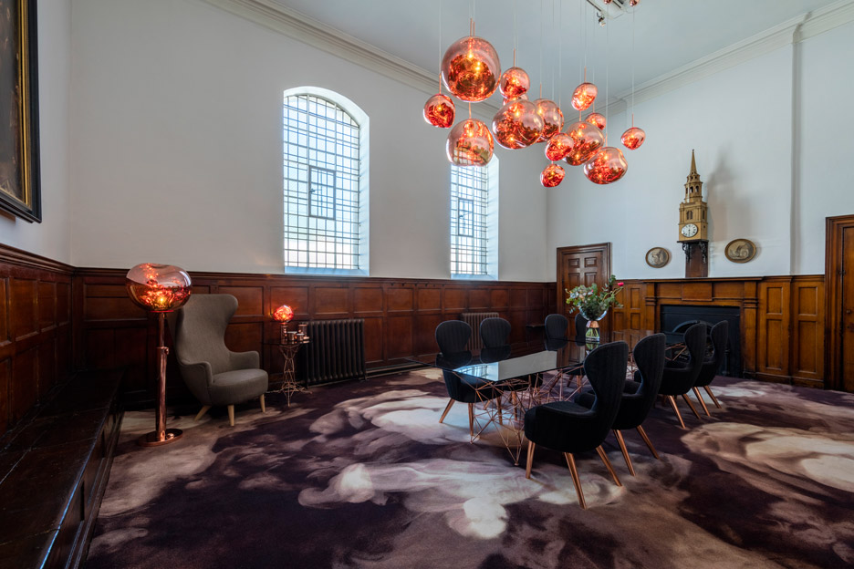 Tom Dixon furniture and lighting exhibition at The Church for Clerkenwell Design Week 2016