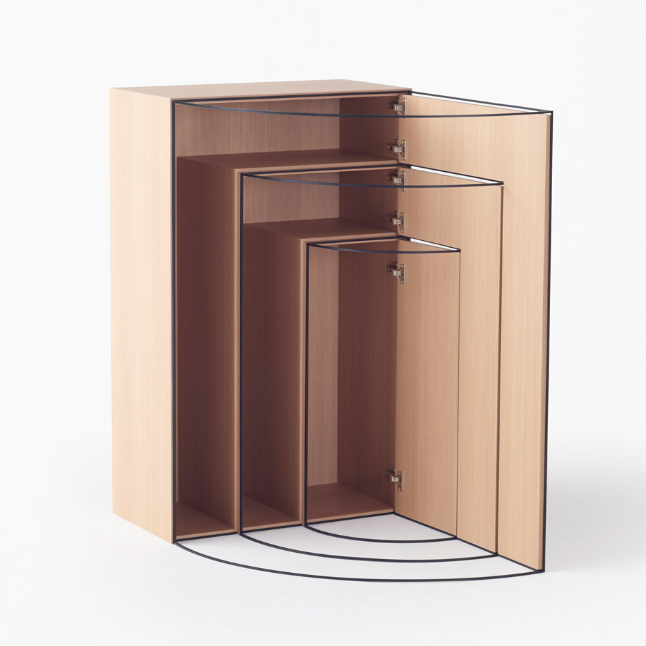 Nendo designs collection of movement-tracing furniture