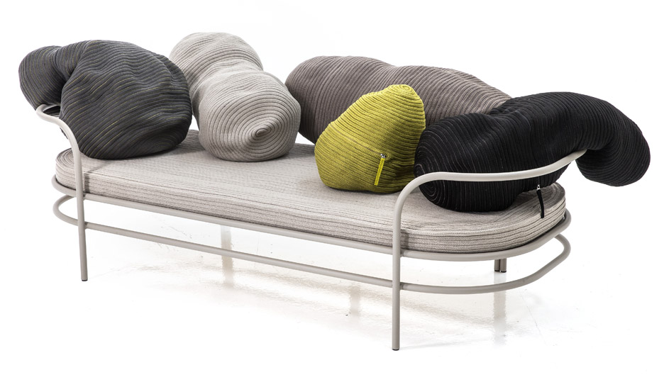 Front Has Designed A Sofa With A Series Of Bean Shaped Cushions That Form  Its Backrest