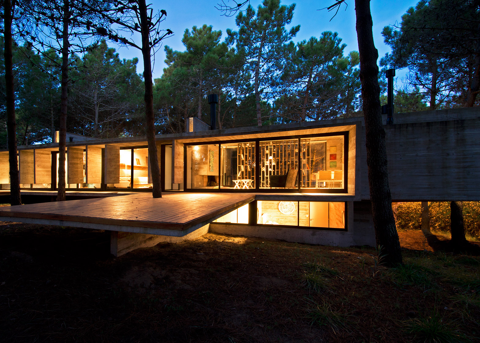 Valeria house by Liciano Kruk and Maria Victoria Besonias which is built in a forest near Buenos Aries