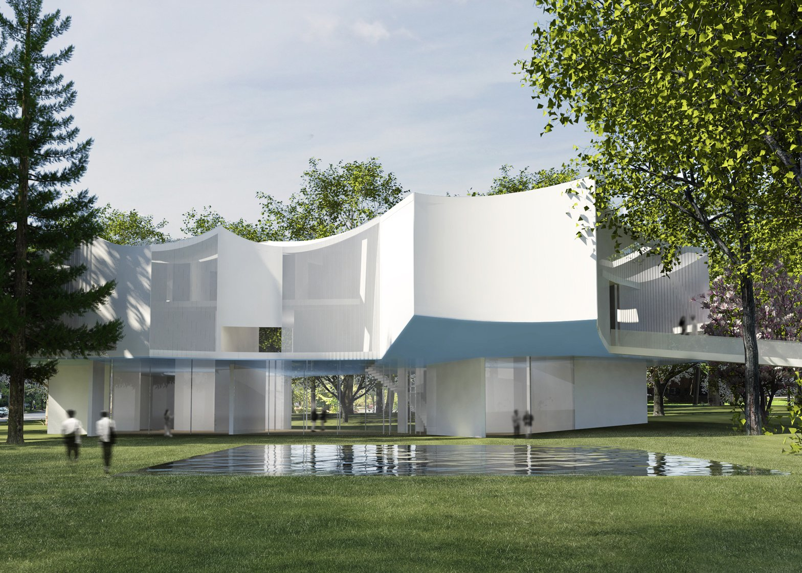 Steven Holl arts centre in Pennsylvania