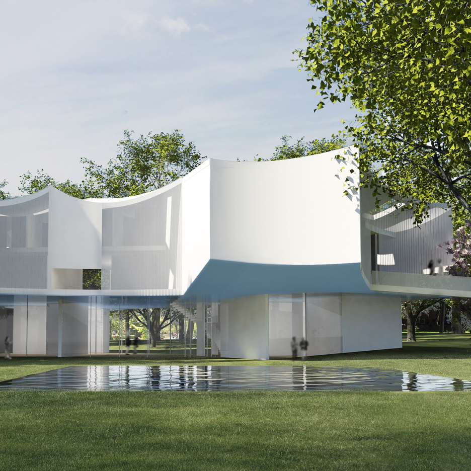 Steven holl unveils visual arts centre for historic for Home holl