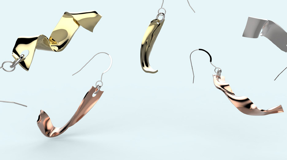 Windswept jewellery by Love and Robots