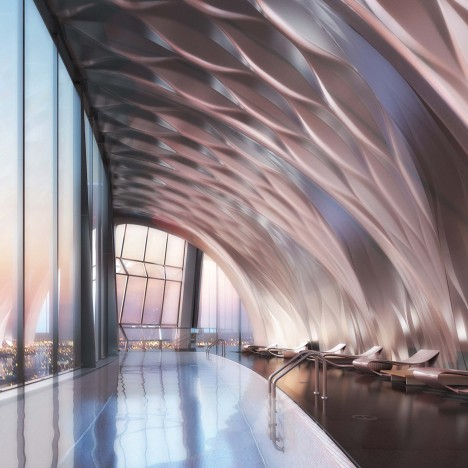 Zaha Hadid's interiors for One Thousand Museum tower in Miami revealed in new images