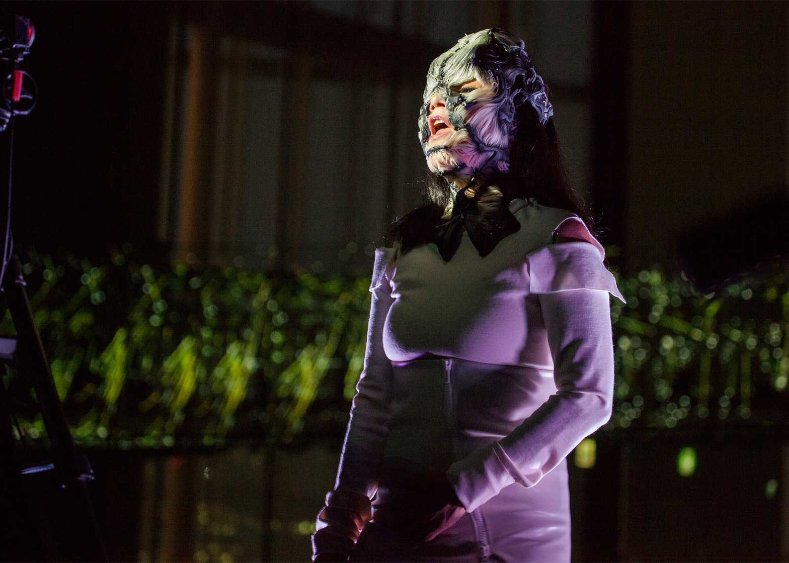Bjork teams up with designer Neri Oxman to create a 3D printed mask