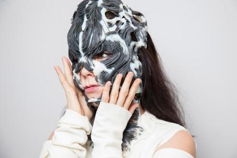 Björk unveils 3D-printed mask based on her musculoskeletal system