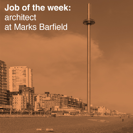 Job of the week: architect at Marks Barfield Architects