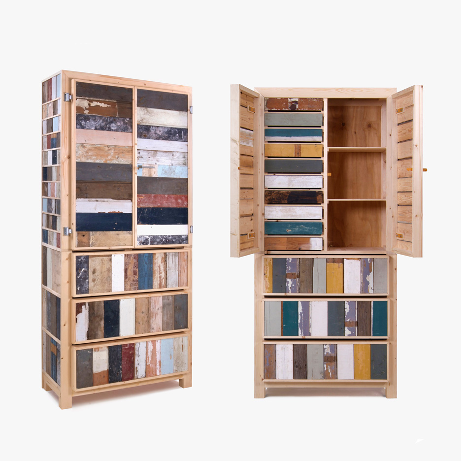 Scrapwood furniture by Piet Hein Eek
