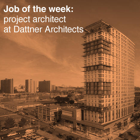 US job of the week: project architect – affordable housing at Dattner Architects