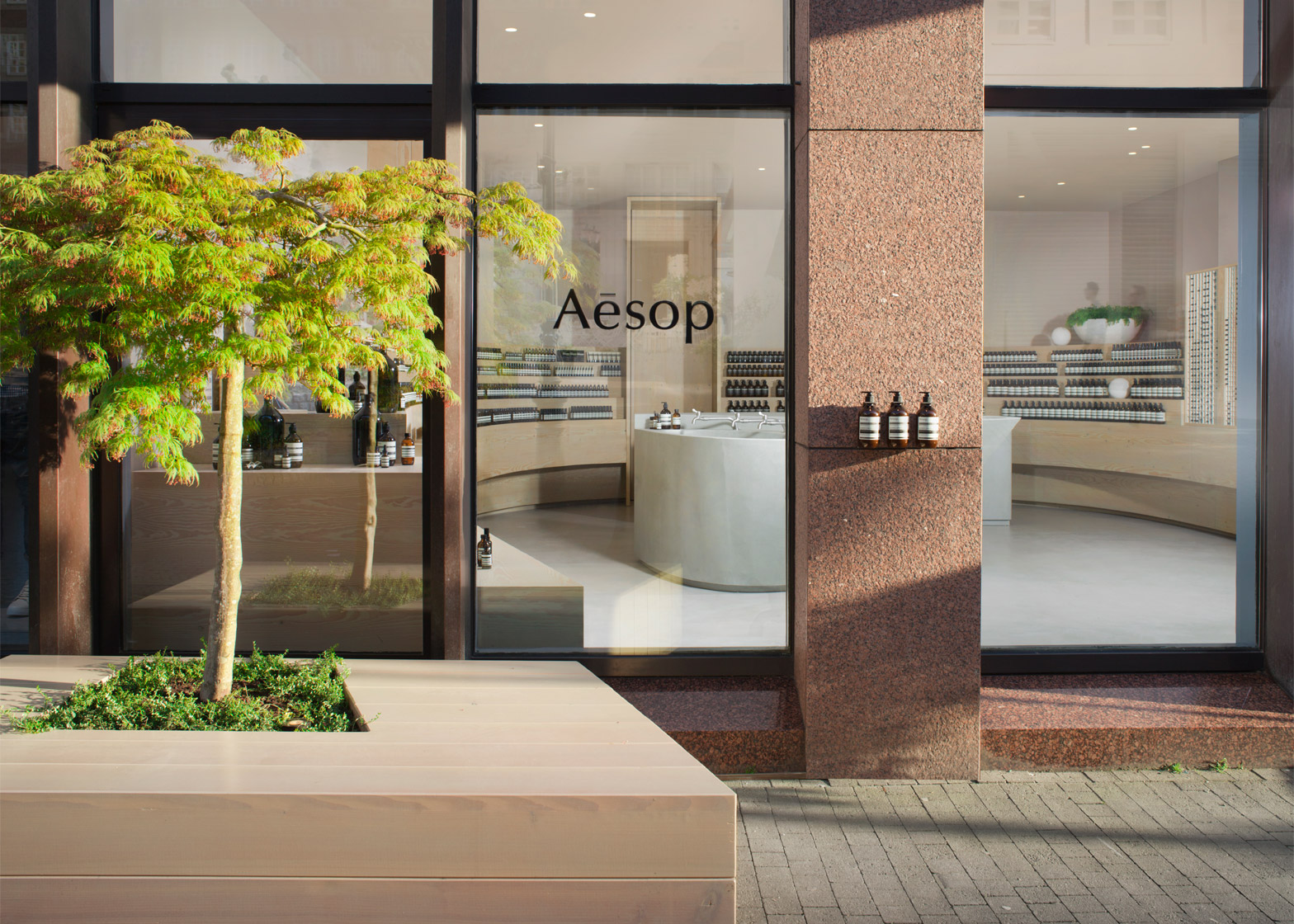 Aesop interior in Dusseldorf, Germany by Snøhetta