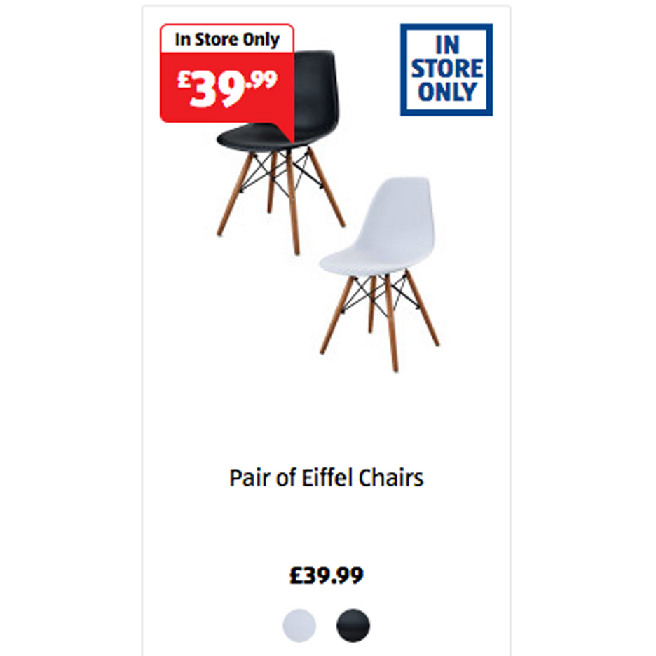 Fakes Eames Chairs by Aldi
