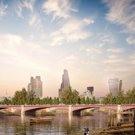 alternative garden bridge allies and morrison-london-blackfriars existing green space park infrastructure dezeen