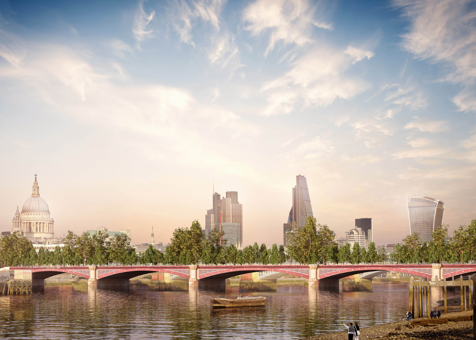 Allies and Morrison proposes alternative Garden Bridge at existing Blackfriars crossing
