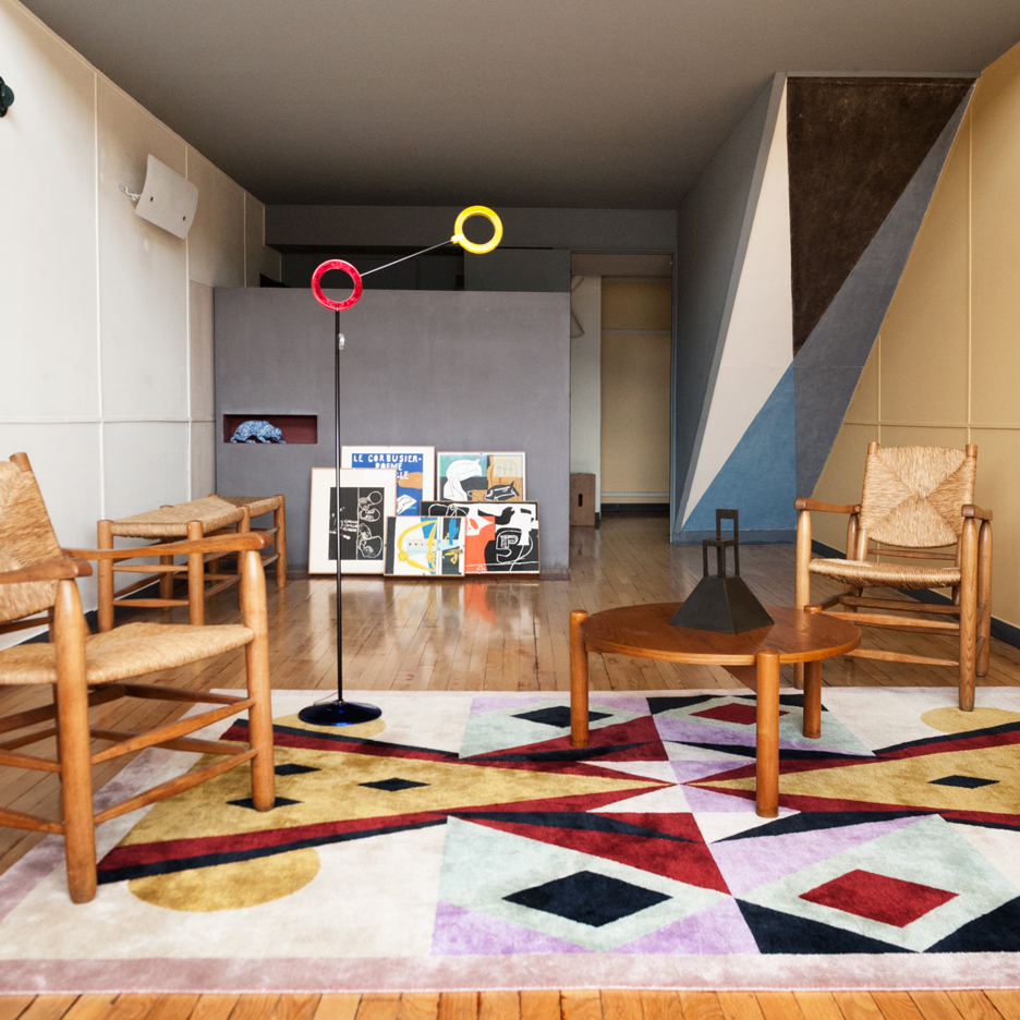 Alessandro Mendini creates new interior for Apartment N°50 in Le Corbusier's Cité Radieuse