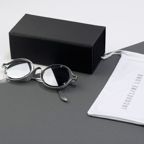 Jacqueline Lung's steel Archytas sunglasses feature screw-fixed lenses