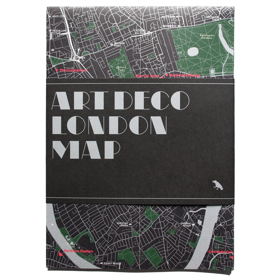 Art Deco London map