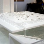 Arthur Carabott's Superhydrophobic Fountain causes water to move in unusual ways