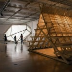 Atelier Bow-Wow and Didier Faustino create glowing wooden shelters for Paris exhibition