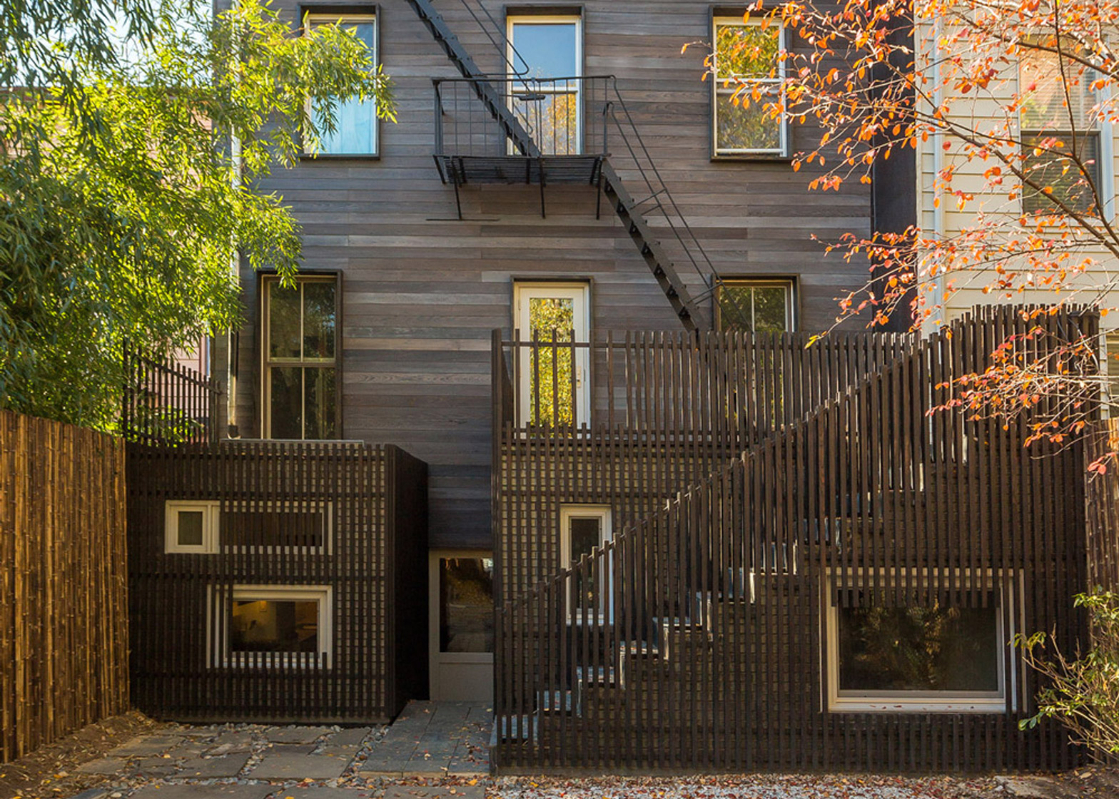 Blurring Boxes residential extension in Brooklyn, New York City, USA by Architensions. Photograph by Cameron Blaylock