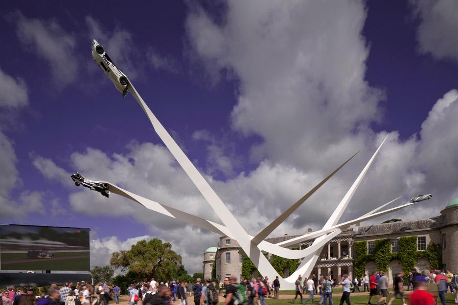 bmw goodwood sculpture gerry judah festival of speed