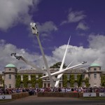 Gerry Judah unveils enormous spiked sculpture for Goodwood