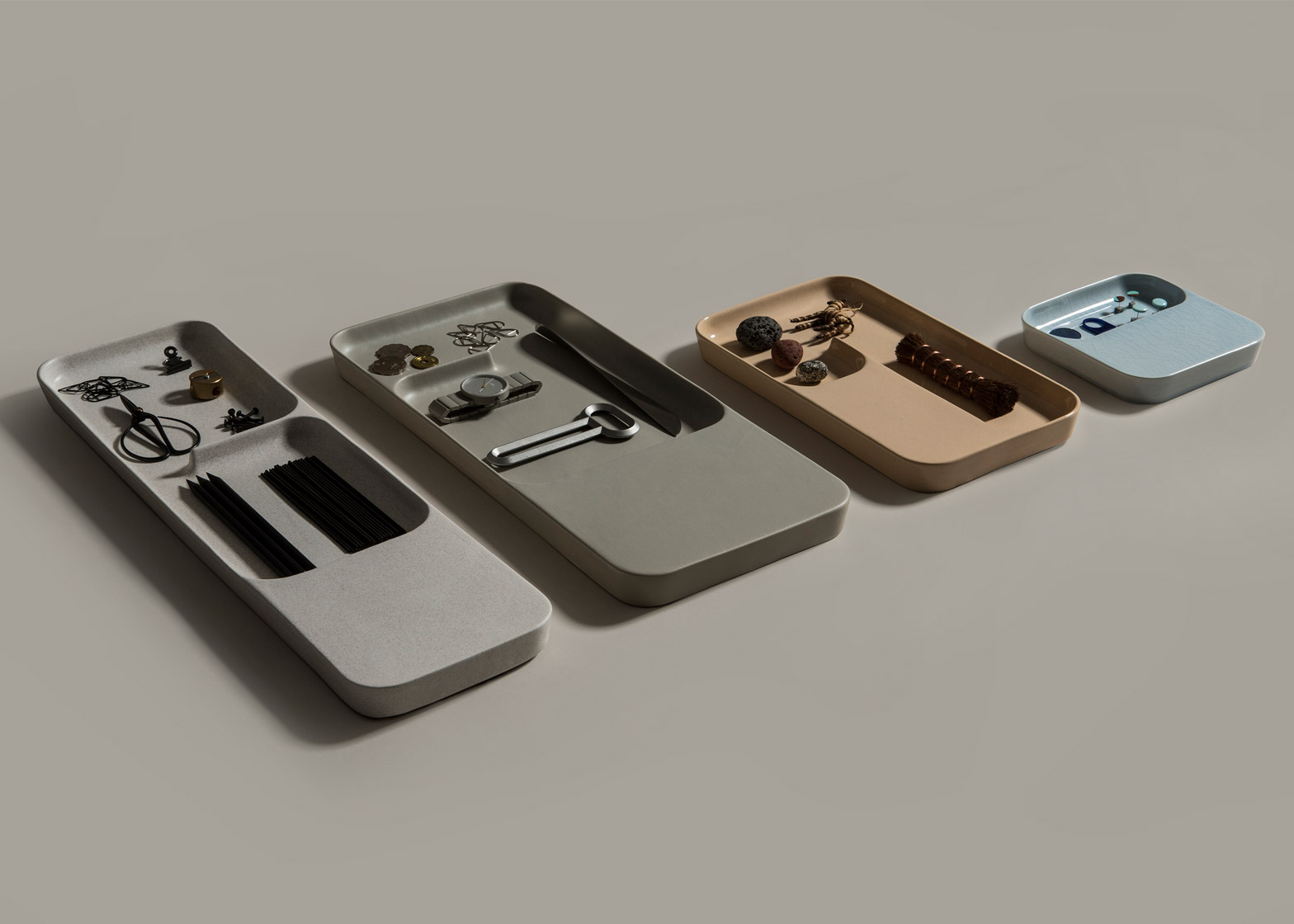 Ceramic Charge Tray's by Benjamin Hubert's brand Layer let you wirelessly charge your smartphone