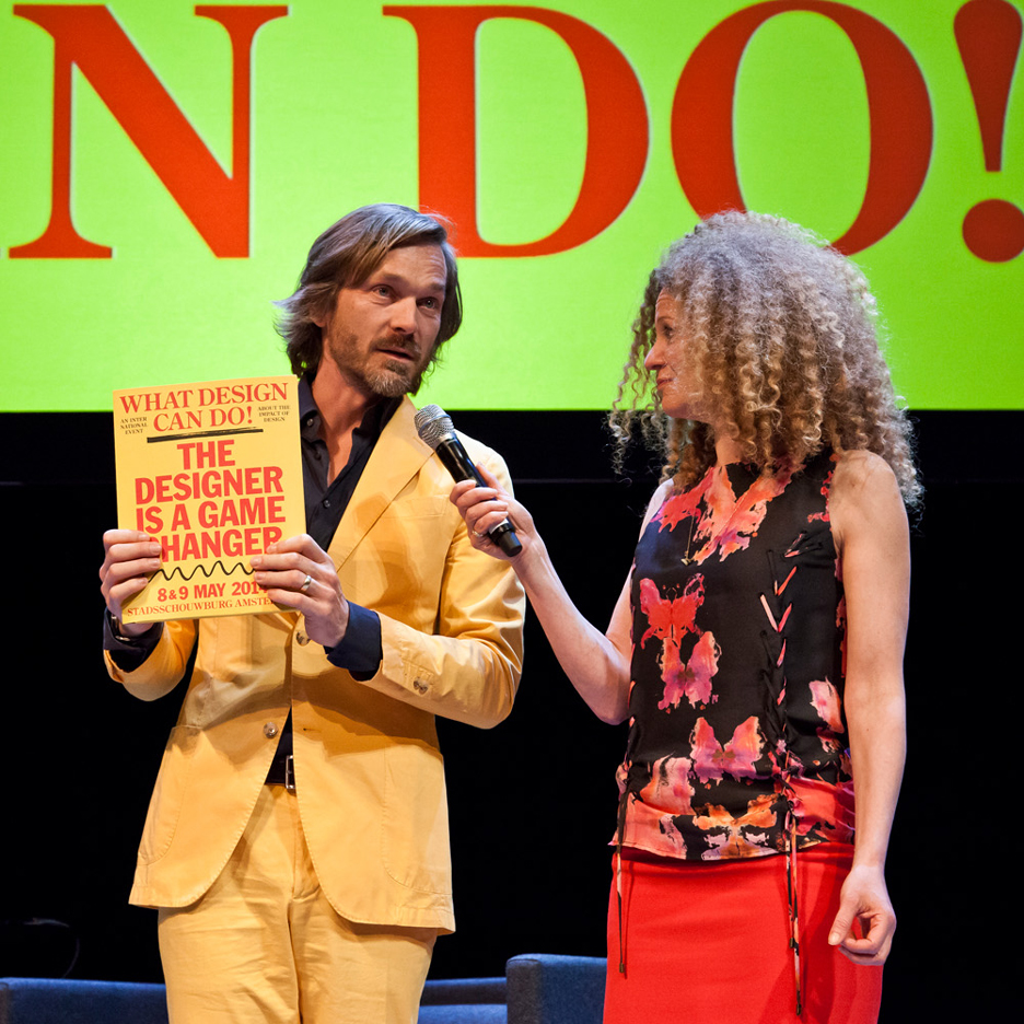 Richard van der Laken on stage at WDCD2014