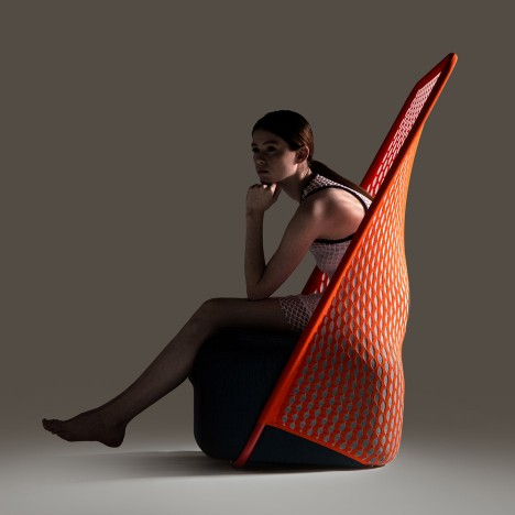 Benjamin Hubert's Layer expands Cradle chair collection for Moroso with knitted mesh backs