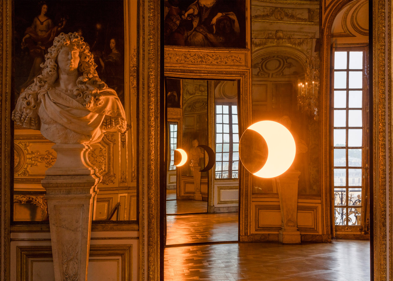 Deep Mirror by Olafur Eliasson at the Palace of Versailles, France