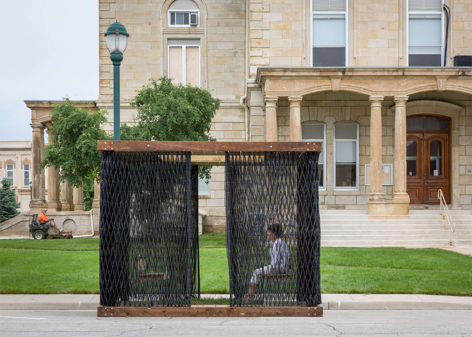 Deployable Smocked Porch by Substance Architecture