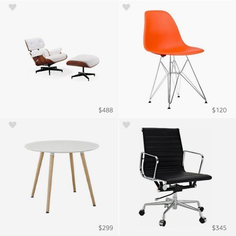 Amazon celebrates Charles Eames' birthday with pinboard of knockoffs