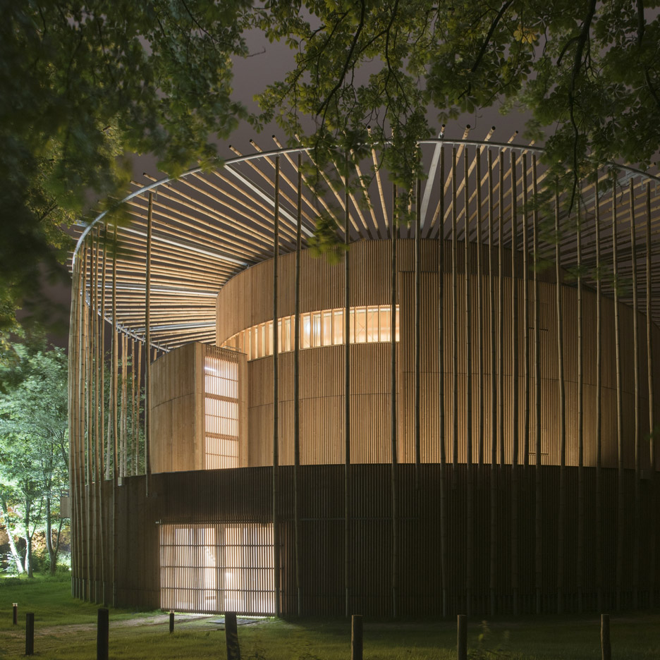 Shakespearean-style wooden theatre by Studio Andrew Todd opens in France